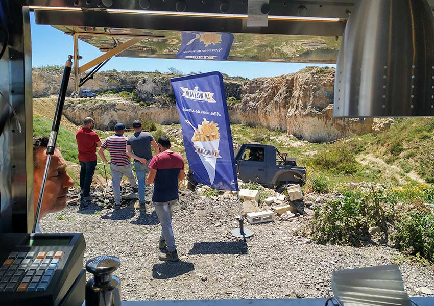 view from inside all wheel drive club malta ahrax quarry mellieha 20190428 the belgian fry